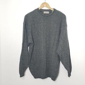 Vintage Tiptop Heather Gray Knit Pullover Sweater